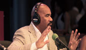 Radio and TV host Steve Harvey speaks at Disney Dreamer's Academy