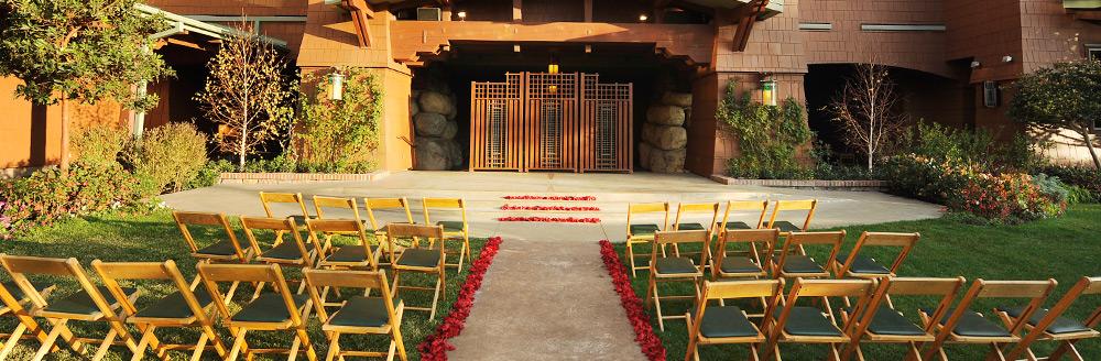 Wedding Garden At Disneys Grand Californian Hotel Amp Spa