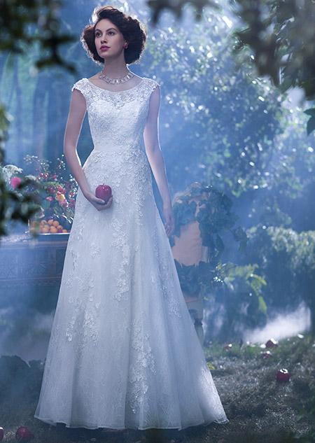 snow white wedding dress