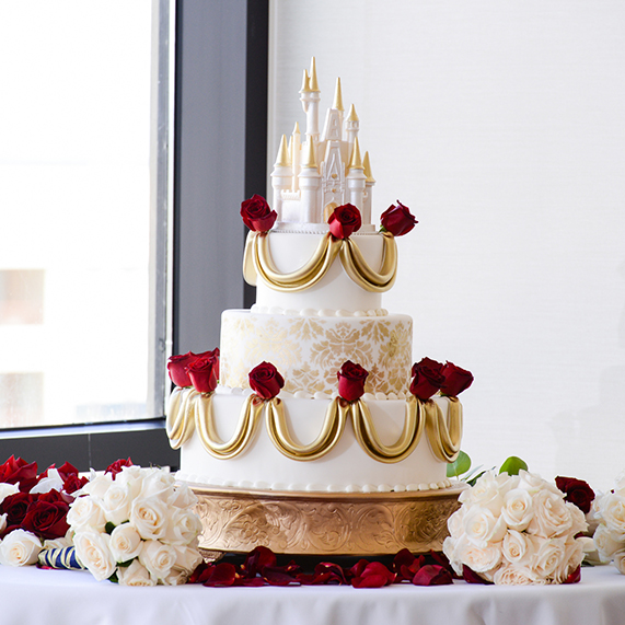 wedding cake wednesday beauty and the beast roses disney weddings. Black Bedroom Furniture Sets. Home Design Ideas
