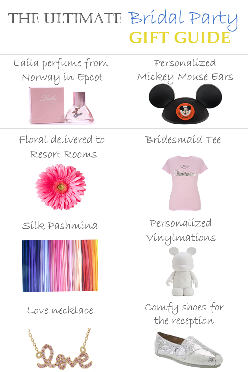 The Bridal Party Gift Guide Disney Weddings