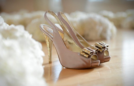 Disney Inspired Wedding Gold Shoes
