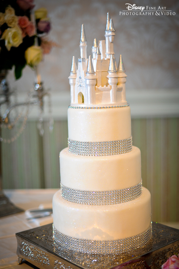 wedding cake wednesday white bling cake disney weddings. Black Bedroom Furniture Sets. Home Design Ideas
