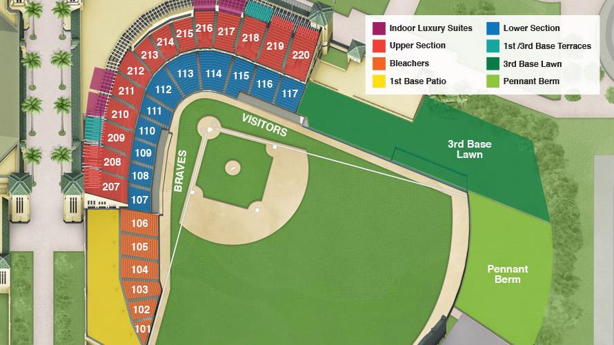 ESPN Wide World of Sports Complex : Champion Stadium Seating Chart