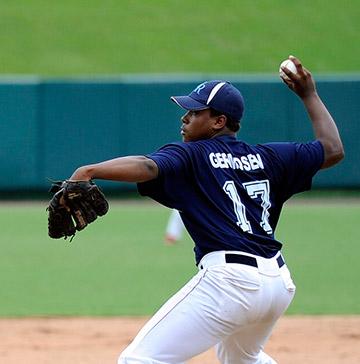 A pitcher throws a 2-seam fastball