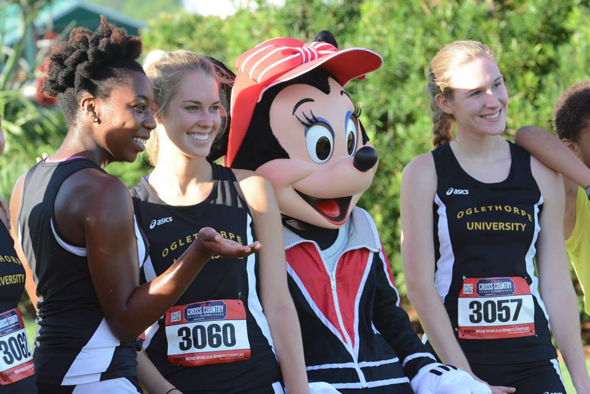 Cross Country Runners meet Minnie Mouse