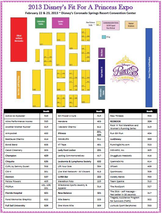 Disney's Fit for a Princess Expo Vendors