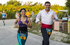 Castaway Cay Challenge participants run the Castaway Cay 5K.