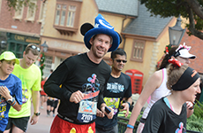Male runner during Walt Disney World Marathon.