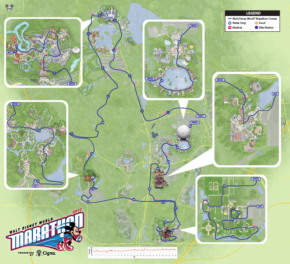 Image result for 2017 disney marathon course map