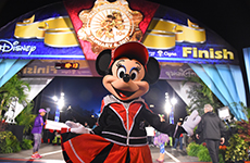 Minnie Mouse at the finish line of Walt Disney World 10K.