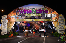 Disney Wine & Dine 10K finish line