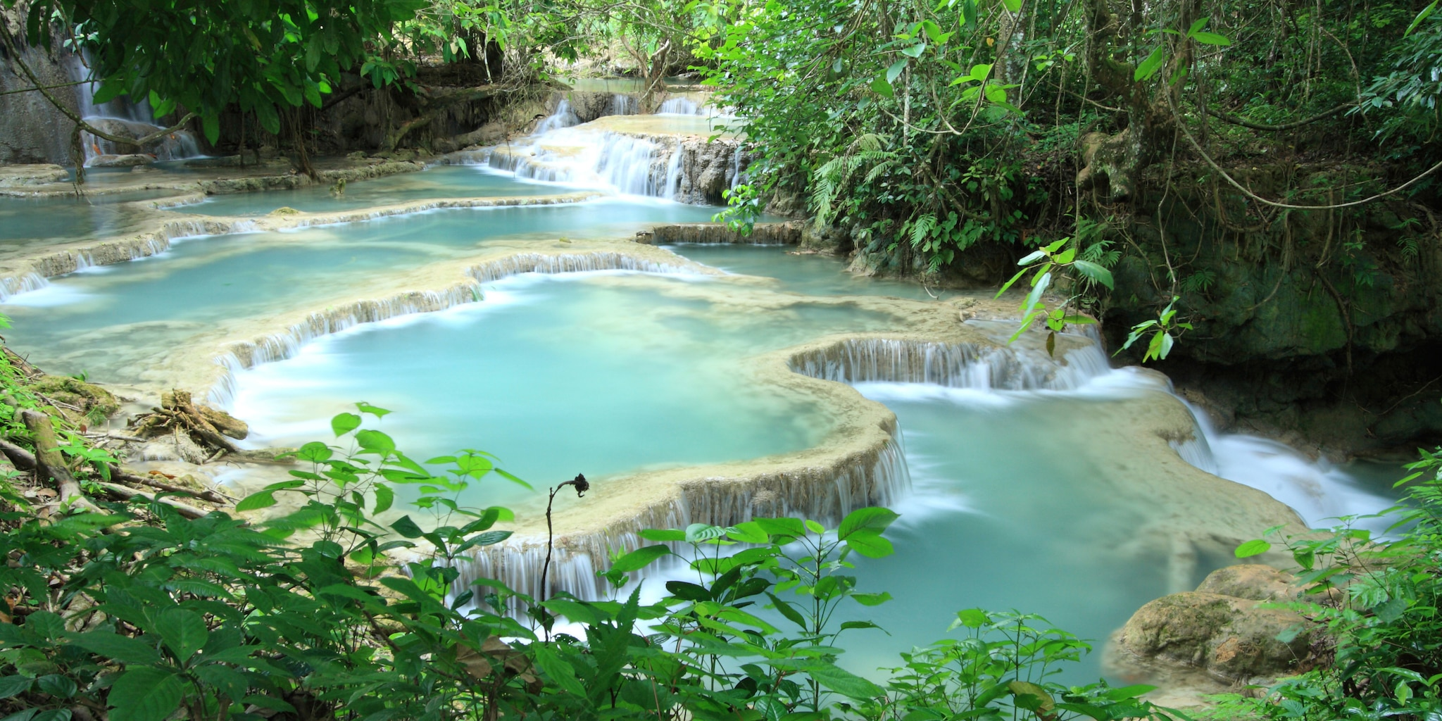 Kuang Si Falls is one stop on the Vietnam tour