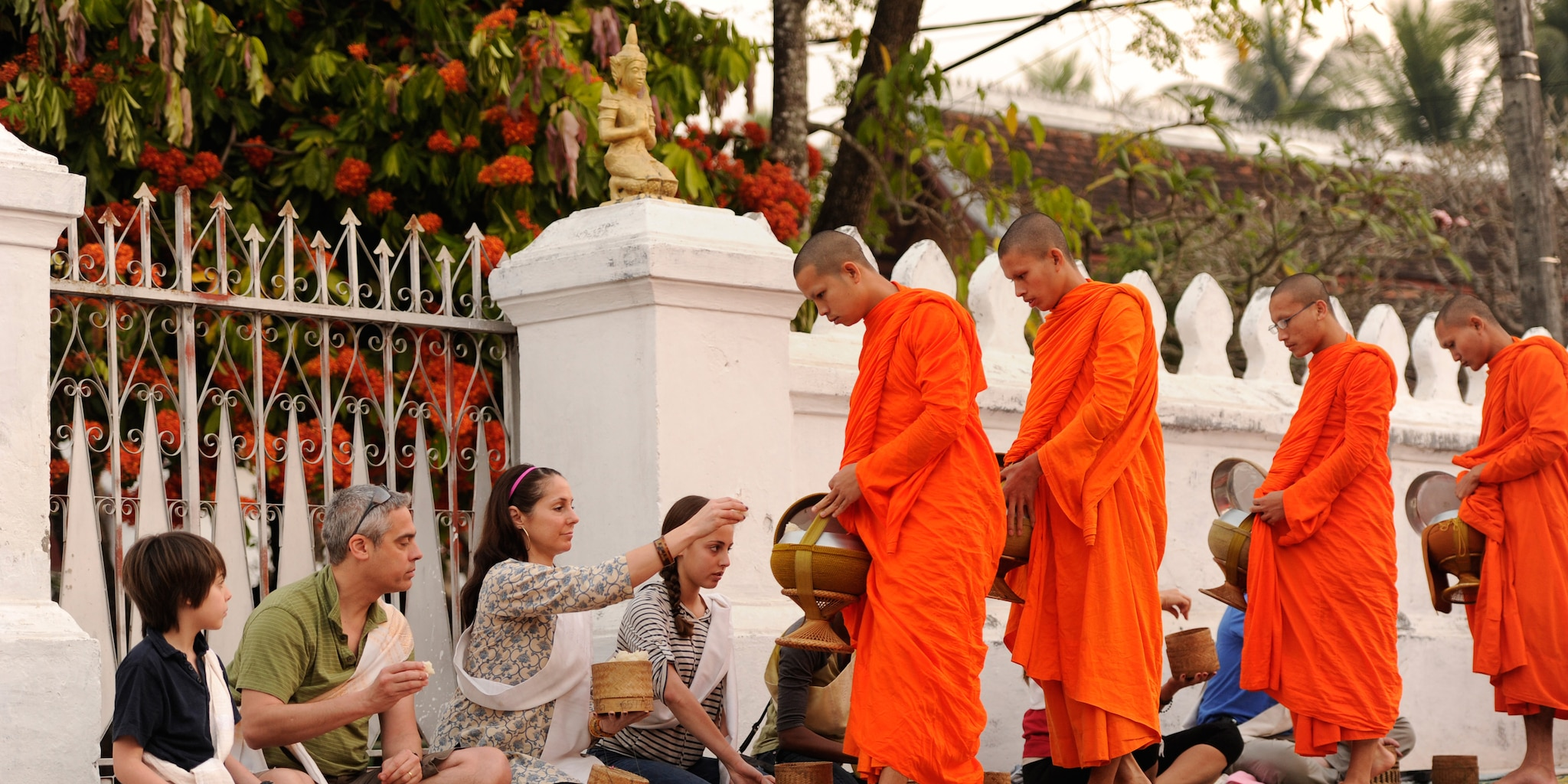 Alms offerings to monks