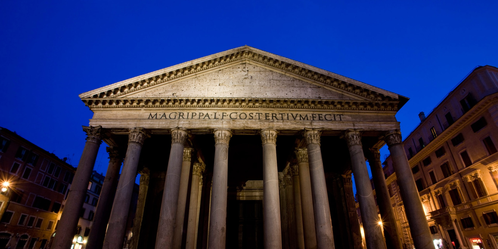 The Roman Pantheon at night