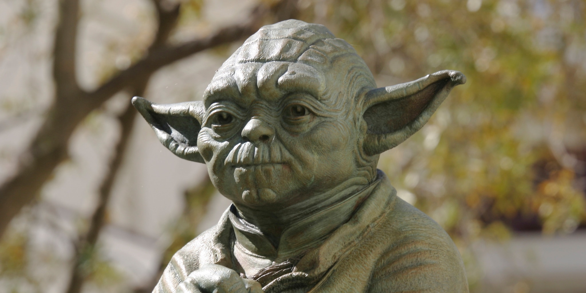 Yoda's head on the fountain at Lucasfilm's campus